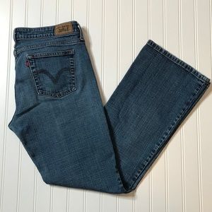 Levi Strauss Signature 545 low bootcut jeans SZ 10